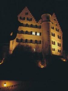 Angestrahlte Schloss Aulendorf